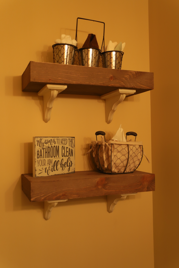 Create your own Shelves with extra wood from walls