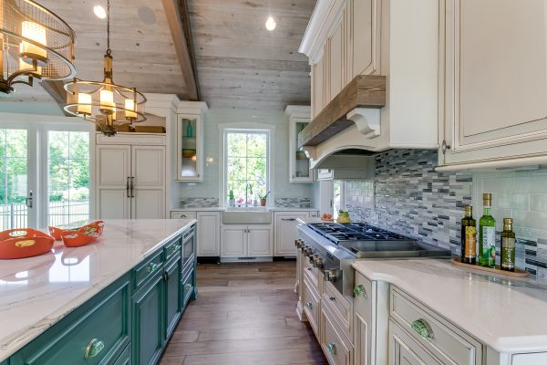 Kitchen Ceiling using Great American Spaces Easy BarnWood in Traditional White