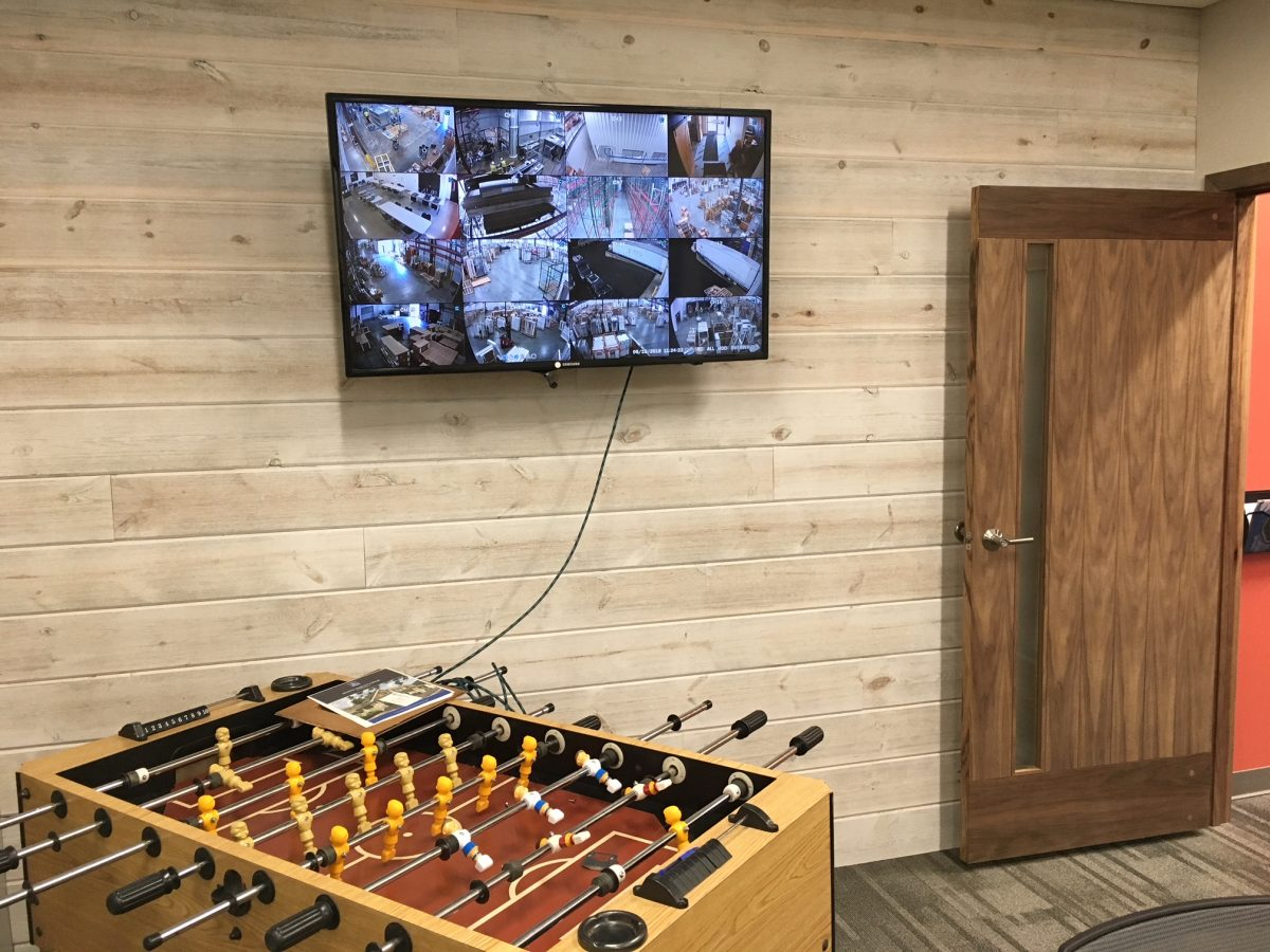 Office Activity Room using Great American Spaces using Easy BarnWood in Traditional White
