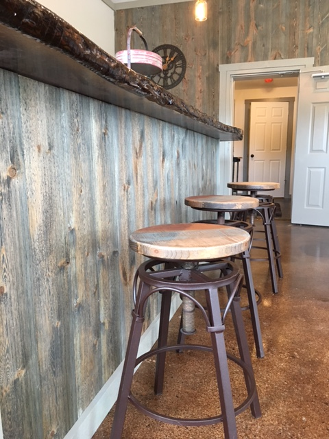 Bar Wood Wall Accent Using Great American Spaces Easy BarnWood in Covered Bridge