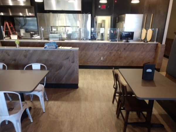 Restaurant using Great American Spaces Easy BarnWood in Covered Bridge