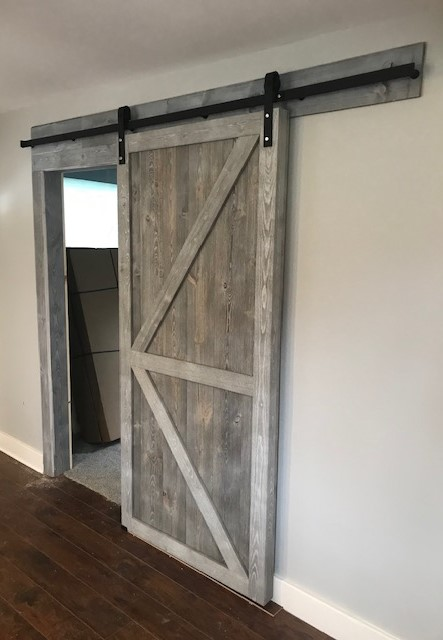 Great American Spaces Easy BarnWood Barn Door - Silver Ash