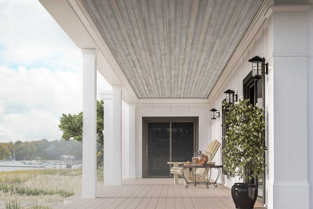 Porch using Easy Barnwood in Sterling Gray