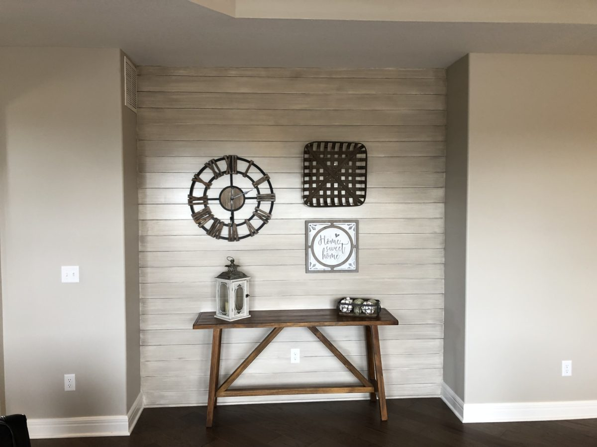 Great American Spaces Accent Wall Nook using ShipLap Cloud