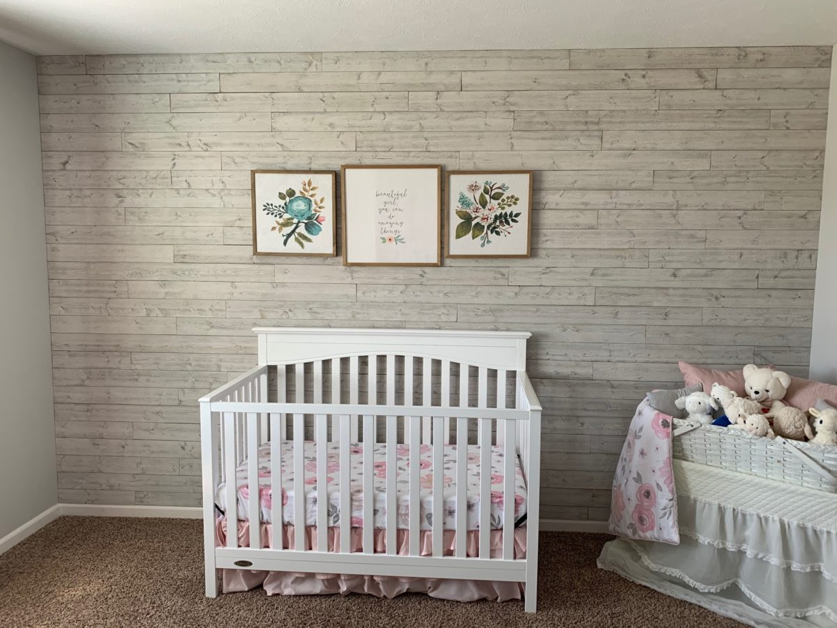 Nursery Wood Accent Wall using Great American Spaces Rustix