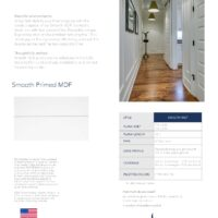 Smooth MDF Sell Sheet